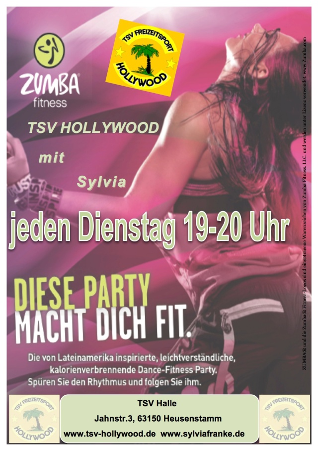 Zumba Flyer Fotodruck