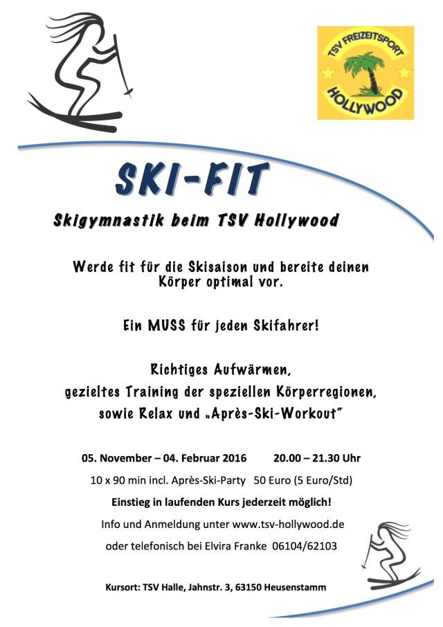 SKI FIT Flyer laufend